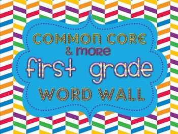 COMMON CORE CONTENT WORD WALL- This packet contains over 2OO vocabulary cards to help you create the ultimate content word wall in your classroom! Each card contains a visual and definition/example of the vocabulary word. They are aligned to the Reading, Language Arts, Writing, and Math Common Core Standards, but I also included additional vocabulary cards that you might teach your first graders {contractions, compound words, money, even & odd, etc).