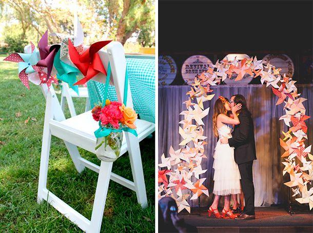 Molinos de viento, Ringletes o Veletas para la decoración de tu casamiento
