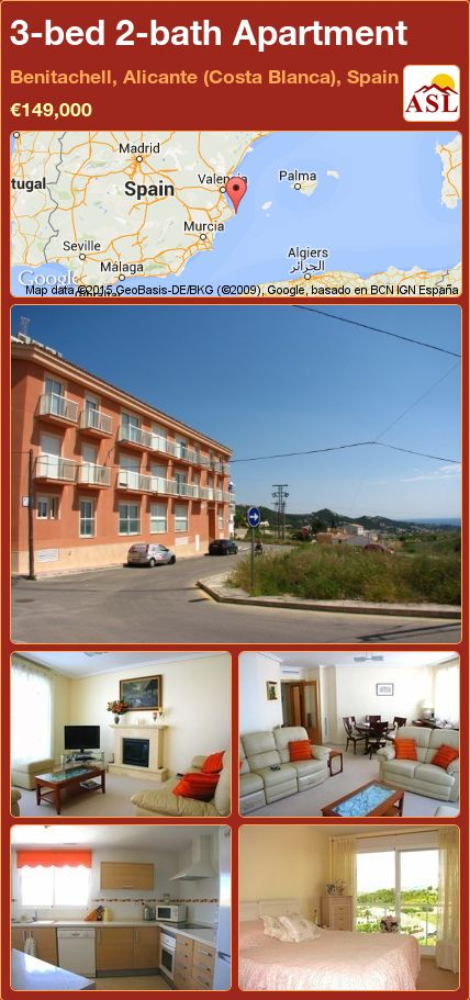 3-bed 2-bath Apartment in Benitachell, Alicante (Costa Blanca), Spain ►€149,000 #PropertyForSaleInSpain