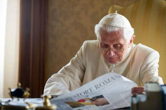 """1 Year after his resignation Pope Benedict at peace with himself at peace with the Lord. """"No. It's clear that humanly speaking, many times, it is painful to see that what is written about someone does not correspond concretely to what was done. But the measure of one's work, of one's way of doing things, is not what the mass media write but what is just before God and before conscience.""""  """"I am certain, indeed convinced, that history will offer a judgment that will be different...."""" Ganswein"""