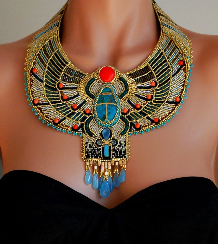 Egyptian Goddess: Statement Necklaces, Beads Necklaces, Style, Egyptian Jewelry, Gemstone Jewelry, Ancient Egypt, Collars Necklaces, Egyptian Necklaces, Bibs Necklaces