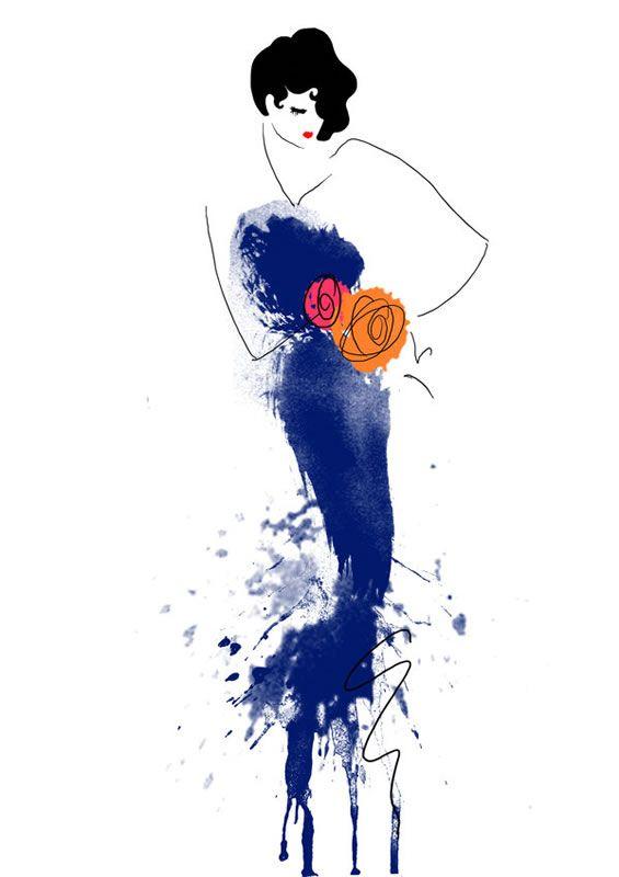 55 Inspiring Fashion Sketches & Illustrations: Sketches Illustrations, Fashion Design Sketches, Fashion Sketches, Fashionsketches, Blue, Art, Fashion Illustrations, Drawing