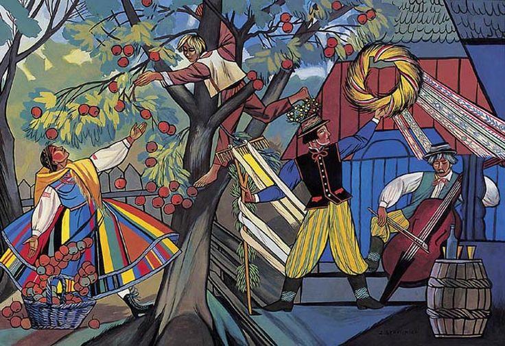 Zofia Stryjeńska, Zrywanie jabłek, ok. 1930