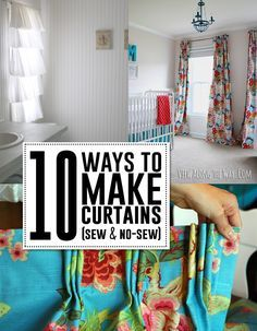 10 great DIY curtain tutorials! Sew or NO-sew!