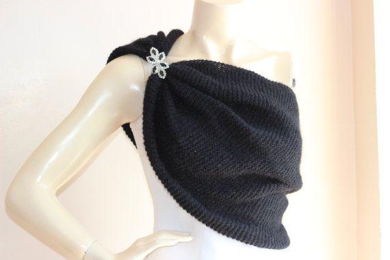 Black Bridal Capelet / Wedding Wrap Shrug by dreamhouse1 on Etsy