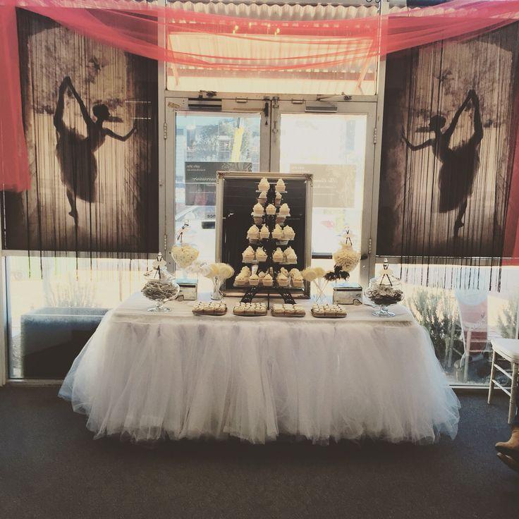 #ballerina in #Paris #candybuffet #dessert #buffet #bride #wedding #eiffel #tower #cupcakes #black #white by @roseandviolet
