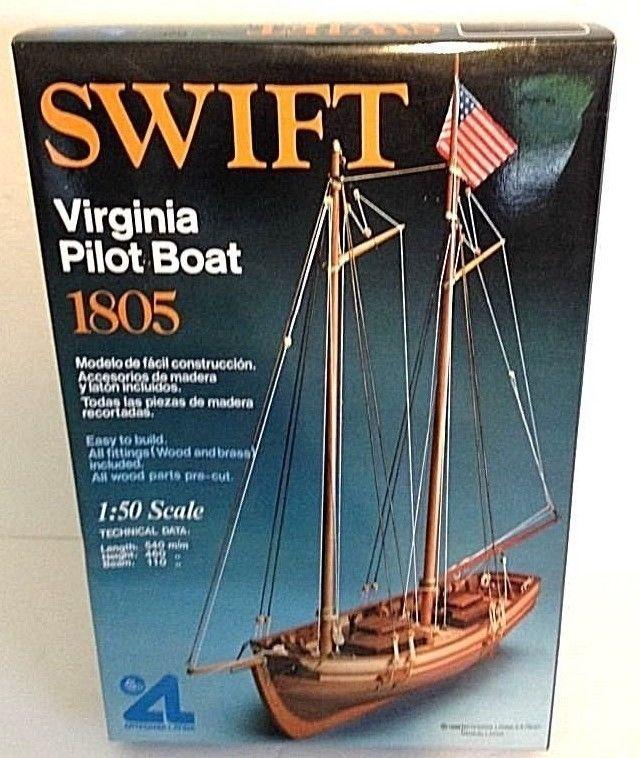 Artesania Latina 1:50 Model Wooden Boat Kit Swift Virginia Pilot Boat 1805…