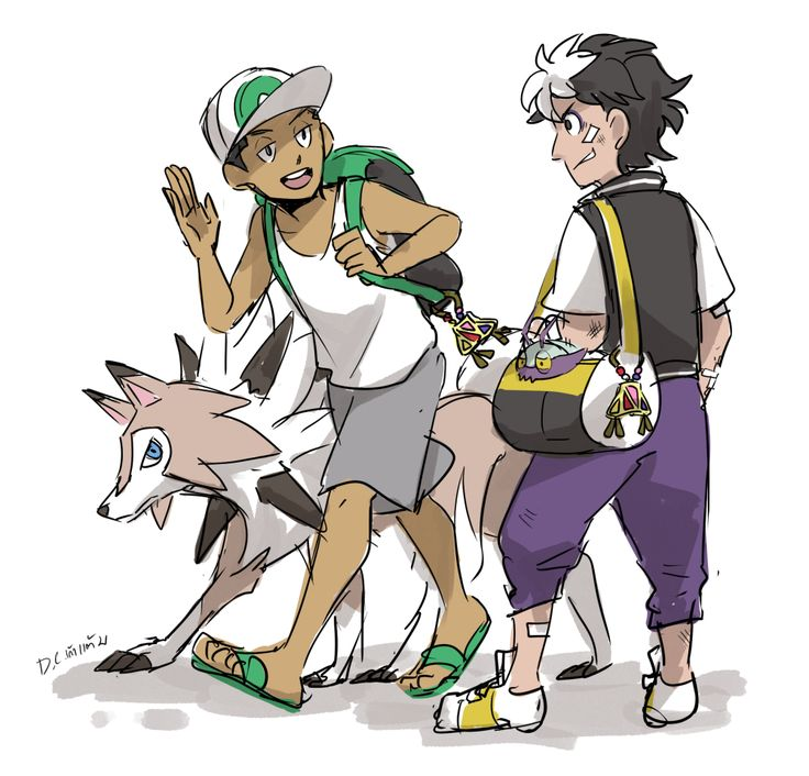 More Pokemon SM stuff. I've done many adults so I think I should draw some kids too.