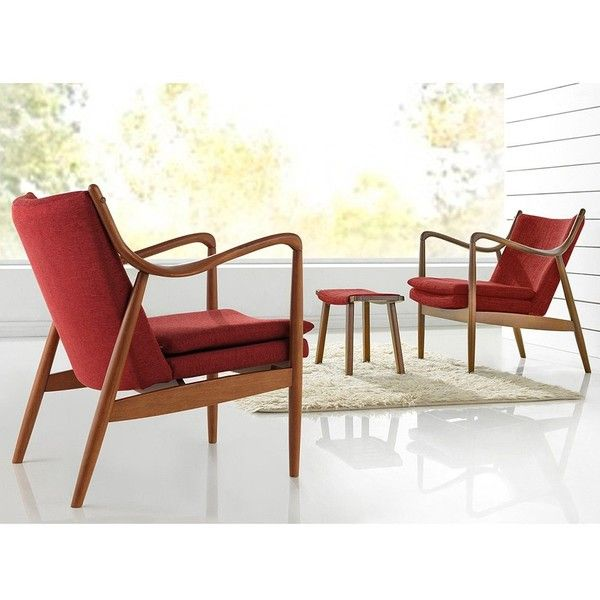 baxton studio diamond midcentury modern pine brown finished red 344