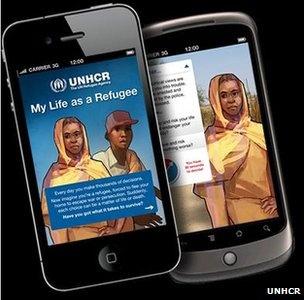 "BBC ""My life as a refugee"" game, UNHCR"