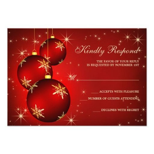 Invitations Christmas