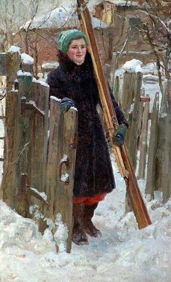 Владимир Васин,,В зимние каникулы,,1958