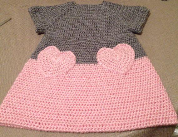 Suave & hermosa ganchillo bebé rosados y grises por ItsOwlAboutYou