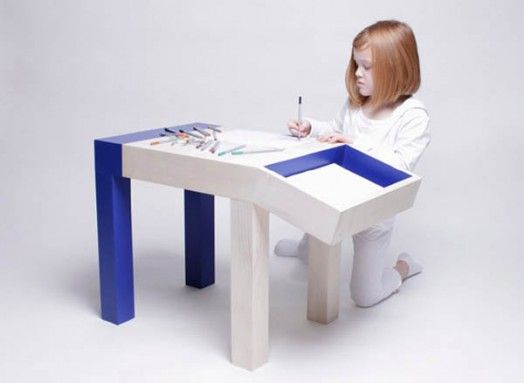 Funny Looking Children Table With Storage – Animal by Quentin de Coster | Kidsomania