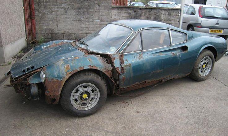 Ferrari Dino 246 GT barn find het is niet alleen Alfa / Fiat die roesten in die periode, maar alles wat auto is, duur of goedkoop
