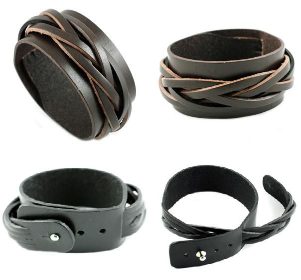 Free shipping men's jewelry,leather bracelet for men,thin leather bracelet,promotional custom leather bracelets-in Leather Bracelets from Je...