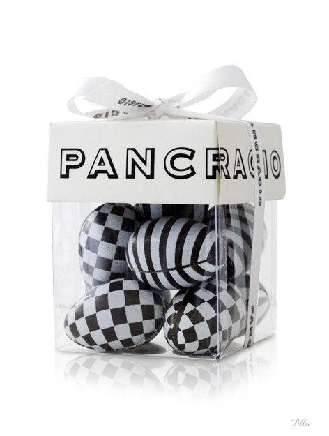 PANCRACIO CHOCOLATE #packaging #black #white #graphic #design