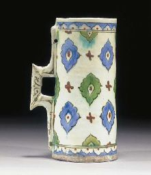 An Iznik cylindrical tankard 17th century