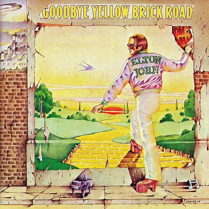 Elton John's 1973 album, ' Goodbye Yellow Brick Road,' included ' Candle in the Wind'. Description from pophistorydig.com. I searched for this on bing.com/images