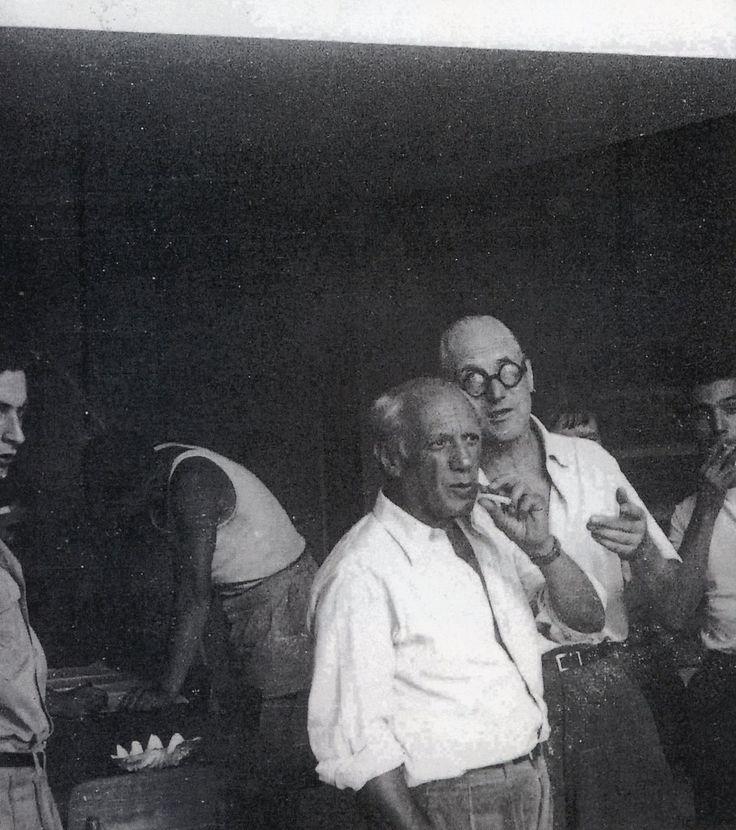 Le Corbusier with Pablo Picasso