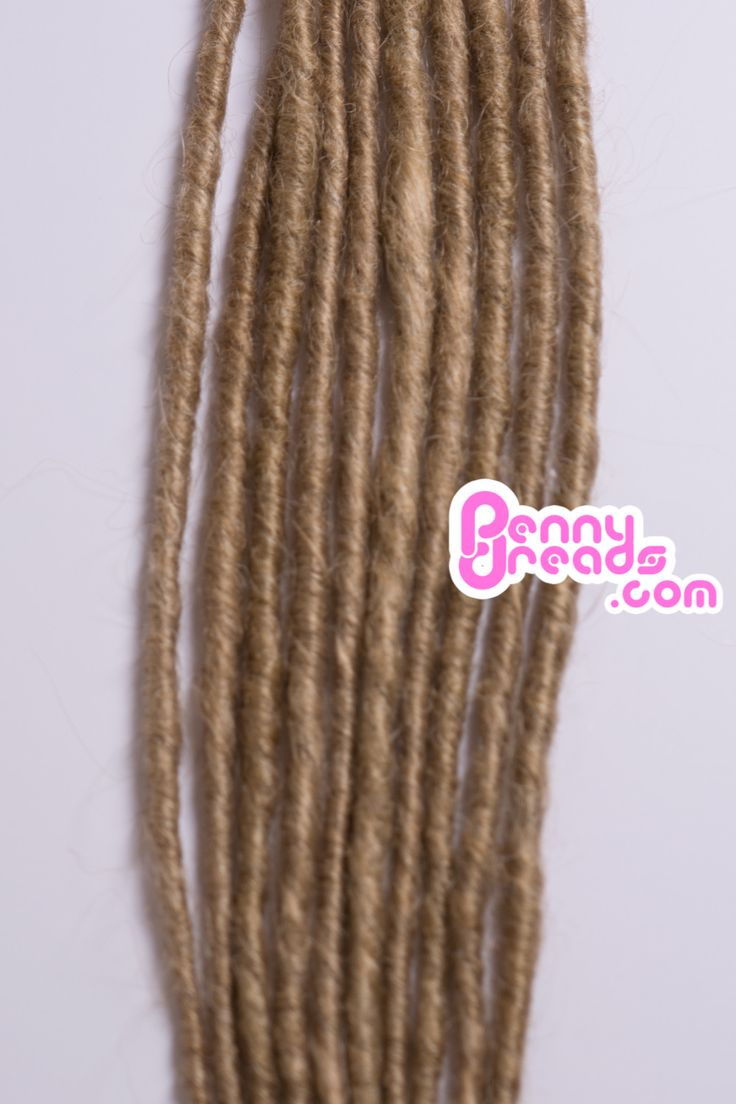 Dirty Blonde Single Ended Synthetic Dreadlocks (Pre-Order)