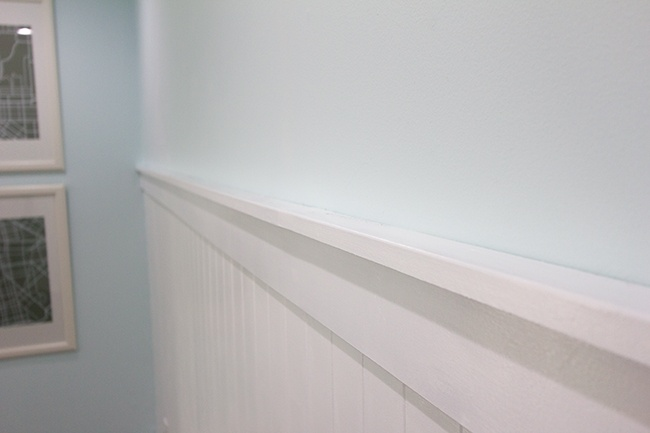 Beadboard Wall Amp Shelf Ledge New House Pinterest