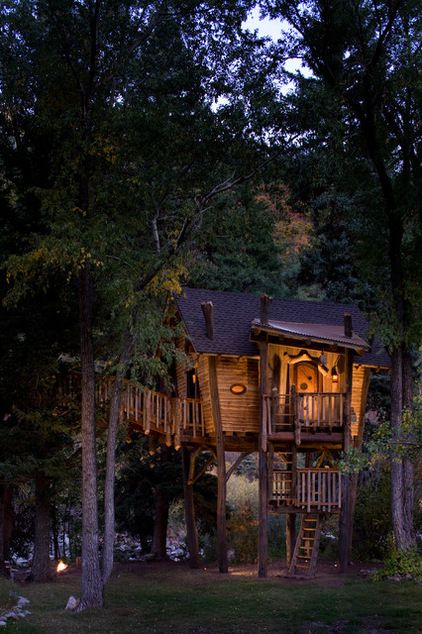 rustic kids by Green Line Architects  I would love to live in a house like this.  What fun!!