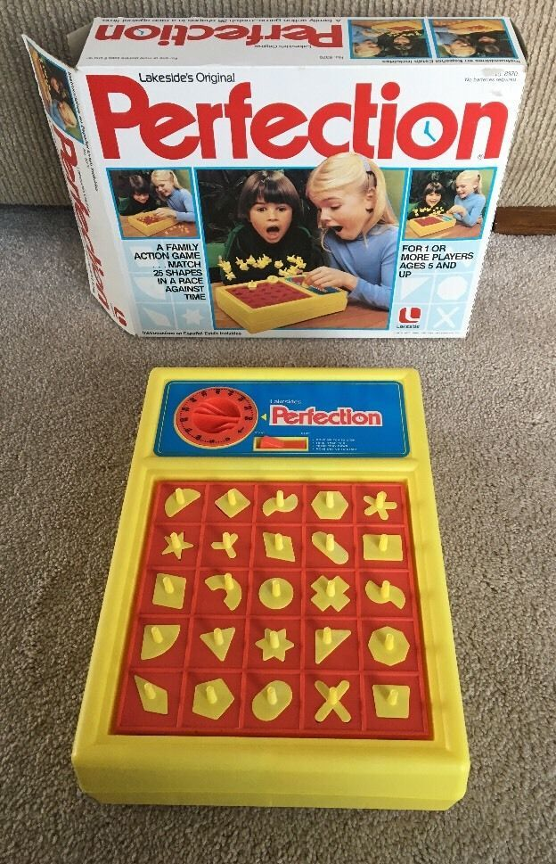 Vintage 1982 Lakeside's Original PERFECTION Board Game #8370 Complete | Toys & Hobbies, Games, Board & Traditional Games | eBay!