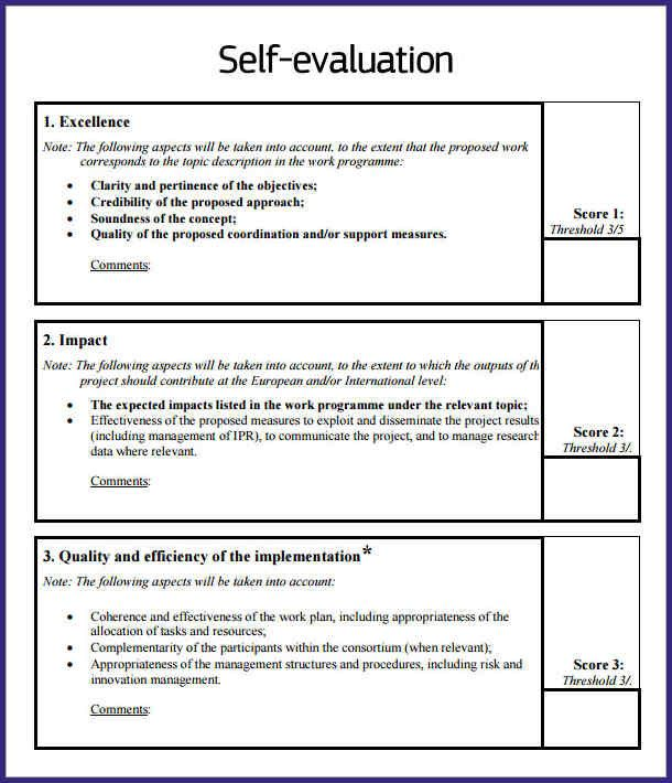 Self Evaluation Examples Evaluation Employee Self Evaluation