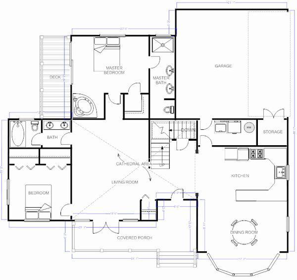 Elegant Drawing House Plans In Visio 7 Aim In 2021 Floor Plans Free Floor Plans House Floor Plans