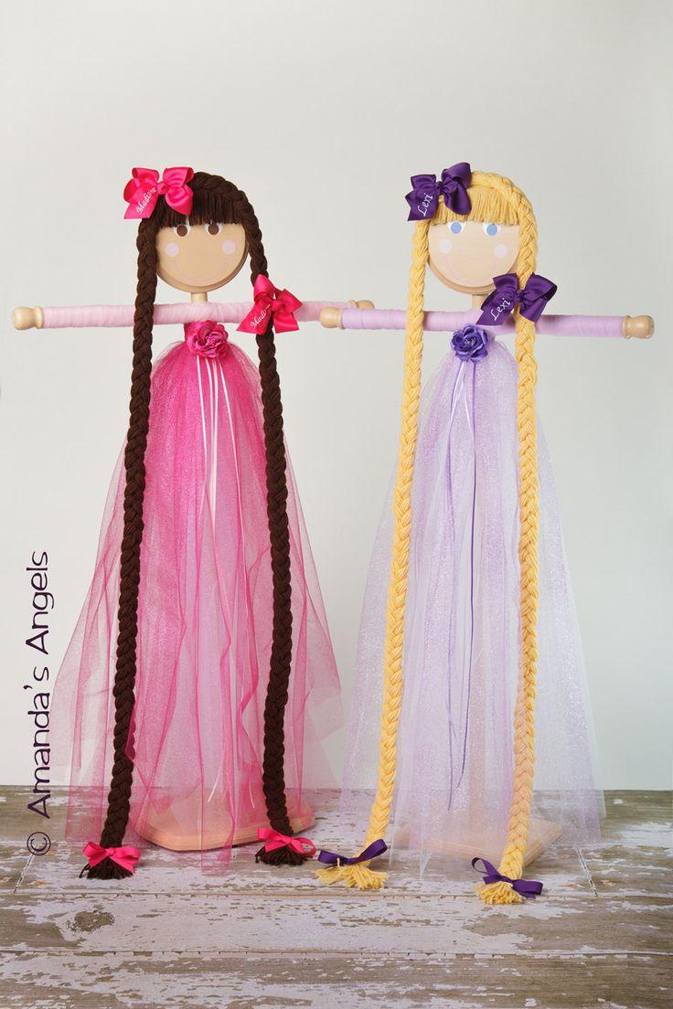 My Princess Rapunzel Purple Tutu Hair Bow Holder by AmandasAngels, $88.00