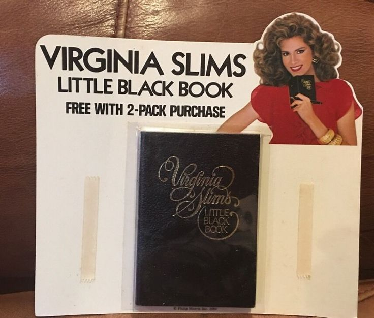 "Virginia Slims Little Black Book 1984 ""YOU'VE COME A LONG WAY, BABY""  