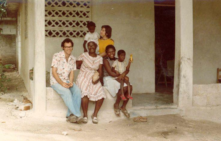 Robert Larouche with the first community in Haiti. #tbt #Haiti