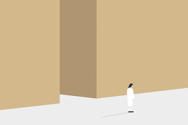 #illustration #vector #nadia_illustrations #minimalism #girl #empty