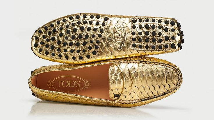 #Tod's #moccasins #gold #shoes #men's shoes