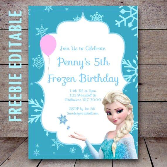 17 Best ideas about Free Frozen Invitations on Pinterest