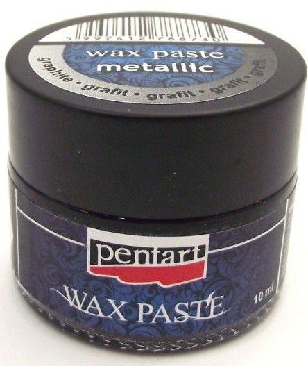 Pasta woskowa metaliczna Pentart Wax paste metallic grafit 10ml Serwetnik.pl…