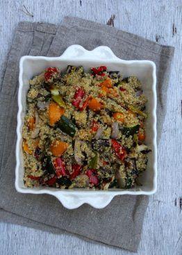 Quinoasalat med grillede grønnsaker