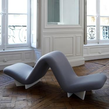 Pierre Paulin; 'Dos à Dos' Chair for Mobilier National, 1968.