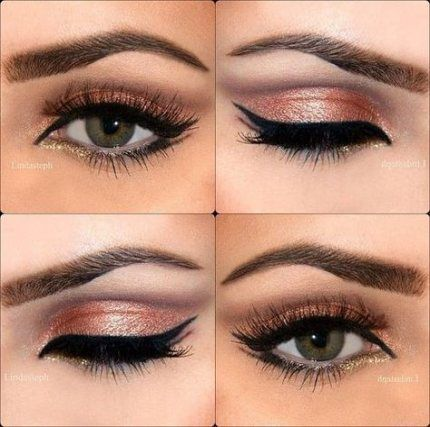 Eye Makeup Rose Gold Peach 36+ Ideas For 2019   Brown ...