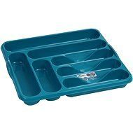 From 9.17 Teal Colour Cutlery Tray Organiser