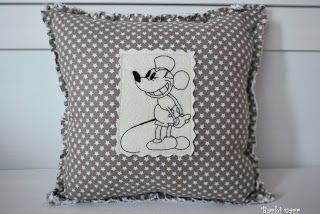 Rag pillow with Mickey embroidery