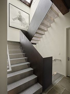 Perforated metal tread stairs. Art House Stair - modern - staircase - seattle - DeForest Architects