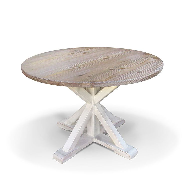 Vintage Mill Werks, Our Montecito Round Dining Table is the perfect kitchen table or as a formal dining in one of our larger diameters. Handmade from Old Growth Douglas Fir.