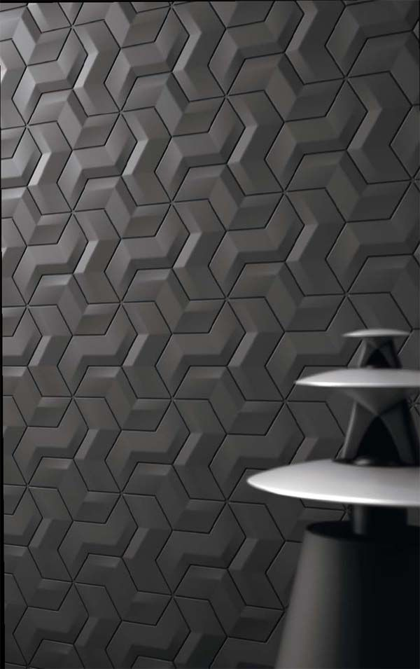 Interlocking tiles, with Bang & Olufsen Handmade tiles can be colour coordinated and customized re. shape, texture, pattern, etc. by ceramic design studios