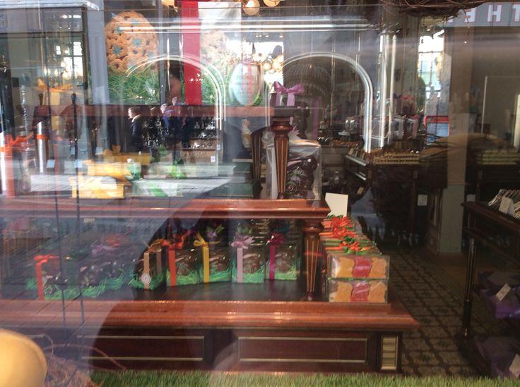 Demel café, handmade chocolate bunnies