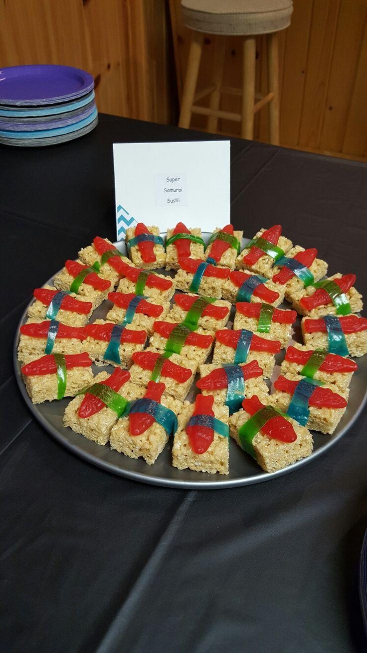 Power Rangers birthday party- super samurai sushi (candy)
