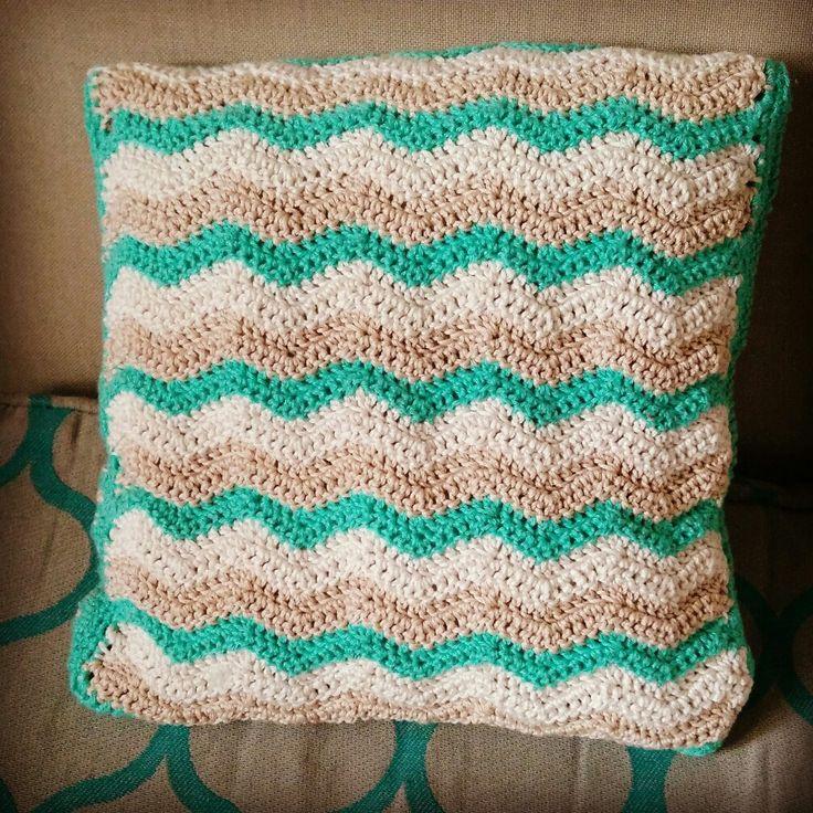 Almohadón ondas #crochetlover