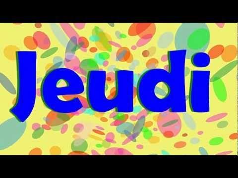 ▶ Les jours de la semaine - alain le lait (French days of the week) - YouTube