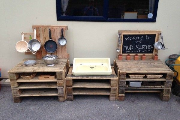 Simple mud kitchen with minimal skill req'd to put together I think.